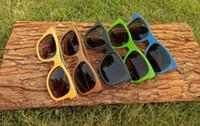 ancient orange - Classic Wooden Frame Skateboard Sunglasses Multicolor Polarization Polaroid Sunglasses Restoring Ancient Ways of Wood Glasses Legs