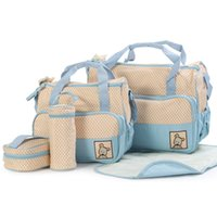 big baby diapers - High Quality Set Baby Diaper Bags Big Mummy Tote Bag Shoulder Women Handbag nursery package Mama Bags