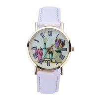 art wrist watch - Essential New Floral art Rural Style Women Fashion Collocation Leather Quartz Dress Bangle Bracelet Quartz Wrist Watch Relojes