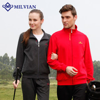 Wholesale milvian men and women s cotton polyester ponte roma three colors winter running wear casual coat