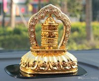 Wholesale solar car decoration alloys gold pray bless peace automotive accessories