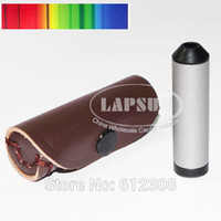 Wholesale Pocket Diffraction Grating Spectroscope Gem Tool Testing Loupe Gems Gemstones Tester Lens With Leather Carry Pouch
