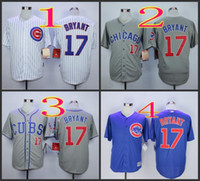 baseball jerseys wholesale - 2016 Majestic Official Cool Base MLB Stitched Chicago Cubs Kris Bryant White BLue Gray Baseball Jerseys Mix Order