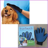 Wholesale Silicon Dog Massage Glove True Touch Deshedding Glove for Gentle Efficient Pet Grooming Dogs Cats Bath