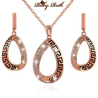 Wholesale Ruby Ruth jewelry sets african bridal rose gold austrian crystal fashion necklace earrings luxury jewellery set wedding women bridal gift