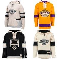angeles longing - Cheap New Custom Los Angeles Kings Men s Hockey Pullover Hoodie Custom Women s Lace Up Slim Fit Hoodie Kids Hockey Jersey Sweater