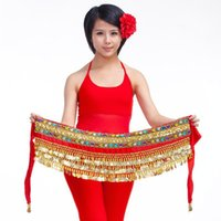 belly scarf available - 2016 Women cheap coins belly dance hip scarf new belly dancing waist belts for sale colors available
