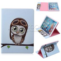 auto paint mixing - Painted pattern Stand Flip Cover Auto Wake Sleep PU Case For iPad air ipad mini Samsung T550 T350 T800 with OPP bag