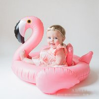 Wholesale Swan Inflatable Float Swim Ring Baby Summer Toys Swan Swimming Seat Ring Water Toys Beach Toys Colors White and Pink