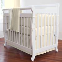 beige crib bumper - Beige Pieces Set Crib Bedding Baby Bedding Set Chevron Baby Nursery Crib Bumper Quilt Fitted Sheet Cotton