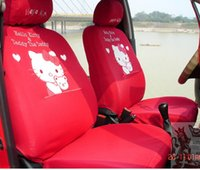 Wholesale hello kitty car seats cover set for four season use fashion auto chairs front and back seats covers all in full set