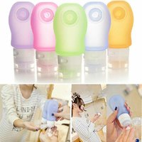plastic shampoo bottles - Refillable Sub bottling Shampoo Shower Lotion Gel Squeeze Bottle Sucker Silicone Travel Points Bottling DHL