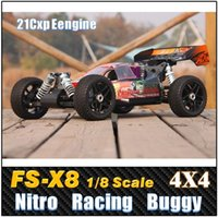 airplane nitro - FS X8 Scale cc Nitro Gas Power WD High speed Off Road Racing Buggy Rc car Remote Control Car
