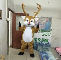 adult deer costume - 2016 New Style Christmas deer Mascot Costume Adult Size deer cartoon costume party fancy dress Factory Direct Sale