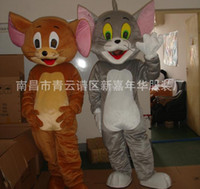 Wholesale Tom Cat Jerry Mouse Martian Tom And Jerry Garfield Mascot Costume Cartoon Character Clothing Mascot Doll Clothes Cartoon Characters