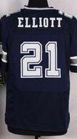 Wholesale NIK Elite Football Stitched Cowboys Draft Ezekiel Elliott Smith Jones Claiborne White Blue Thanksgiving Jerseys Mix Order