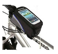 Wholesale 4 inch Cycling Sport Bike Bag Bicycle Frame Front Tube basket Pannier Cell Phone Bag