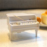 Wholesale Piano Toothpick Box Automatic UV Germicidal Power Off Protection Intrusive Clip Design Food Grade Material Creative Kitchen Tools