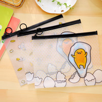 Wholesale pc cm Cartoon Egg Transparent File Bag Document Bag File Folder Stationery Filing Production School Office Supplies