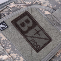 ab positive - 3D Military Woodland Blood Type Patch B A AB O Positive Hook NEG Coyote Tan Embroidery Cloth Standard Armbands