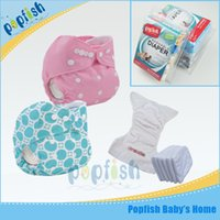 baby distributors - 2016 China Fashion Nappies Distributor PUL Outer Microfiber insert Gift Box Packing Washable Baby Cloth Diaper Reusable Nappies