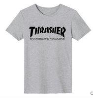 venda por atacado camisa do homem de fábrica-Venda de desconto de fábrica! Camisa de Thrasher T dos homens T-shirt de Thrasher da chama de Wome dos homens T-shirt de Hip Hop T do compartimento do skate do palácio Tops Baskeball