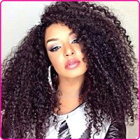 best small companies - Malaysian Afro Curly Virgin Hair Long Curly Weave Full Lace Wigs Cheap Kinky Curly Queen Hair Best Quality Human Hair Company