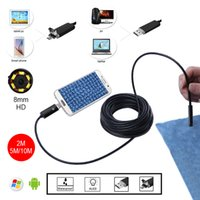 Wholesale HD mm Lens M Golden Android Endoscope Inspection USB Snake Mini Waterproof Camera Endoscope Endoscopio Android Endoskop