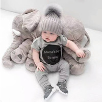 baby doll toy car seat - Elephant Soft Appease Baby Pillow Baby Calm Doll Baby Toys Baby Sleep Bed Car Seat Cushion Kids Portable Bedroom Bedding Stuffed