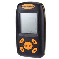 Wholesale Portable Sonar LCD Fish Finder degrees Meter x AAA batteries Power Water Resistant Fishing Alarm