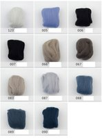 Wholesale Wool Tops Wool Felt DIY Material Colors g New Zealand Wool