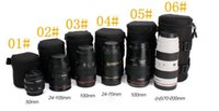 Wholesale Waterproof DSLR SLR Camera Lens Barrel Bag Sleeve Thick Crashproof Pockets kit for Canon for Nikon Camera Lens Barrel