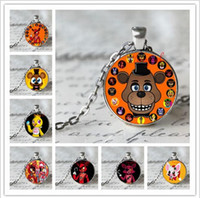 bear gems - 12 design toy bear Five Nights at Freddy s gem stone necklace fashion cartoon necklace mix color