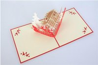 Wholesale Christmas Greeting Cards d handmad D Pop UP Greeting D Pop UP Greeting custom greeting cards Christmas gifts souvenirs
