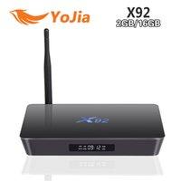 Wholesale 10pcs Genuine X92 Android TV Box Amlogic S912 G G G Octa Core Kodi G Wifi Set Top Box