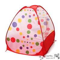 Wholesale Barraca Infantil Kids Teepee Tents Children Kids Play Tents Outdoor Garden Folding Portable Toy Tent Pop Up Multicolor Independent House