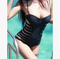 Wholesale 2016 Sexy Black One Piece Swimsuit Swimwear for Women Push Up Padded Bathing Suit Woman Swim Suits Brazilian Biquinis