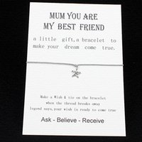 best wishes letter - Wish String Star Charm Bracelet Mom you are my best frined love card Friendship Mothers Day Valentine s Day greeting card birthday gift