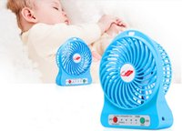 Wholesale Small Fan USB LED Electric Fan Adjustable Wind Speed Rechargeable Lithium Battery Multi Color Portable
