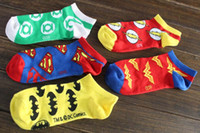 batman symbols - Brand Men Women Cartoon Comics Batman Superman Green Lantern The Flash Wonder Woman Logo Symbol Mark Meias Socks Sock b158