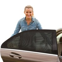 Wholesale Car Side Window Sun Shade For Auto Car Side RearBlack Mesh Solar Protection Car Cover Pack of