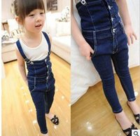 Wholesale New children s wear autumn clothes Tall waist suspenders braces and feet