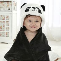 best infant bath - Super Soft Animal Cartoon Hooded flannel Bath Towels For Babies Infant Cute Towels Blankets best gift