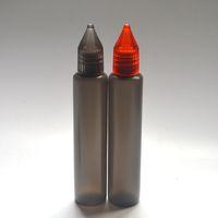 Wholesale Pen Shape Unicorn ml Bottles with Colorful Cap Long Thin Plastic Dropper Black Bottle E liquid Bottle instock