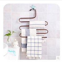 Wholesale 36x35cm Bathroom towel rack Home S type Pants Rack Pants Folder Wardrobe Rack Storage Rack Pants Hanging Pants Rack Pants Hanger Hanging