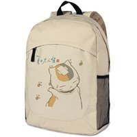 backpack teacher book - Anime Natsume s Book of Friends Backpack Oxford Khaki Natsume cat teacher Schoolbag Fashion Travel bag Shoulders Bag No