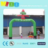 Wholesale openging celebration inflatable arches Children s playground road lead props elephant cartoon inflatable arches factory outlets