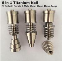 Precio de fábrica Titanio Titanio ajustable Grado 2 Titanio Para 16mm 20mm calentador bobina GR2 Ti Clavos de fumar Bongs de vidrio e cig Accesorios