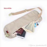 Wholesale 2016 Naturehike Nylon Outdoor Travel Accessories Climbing New Fashion Slim Personal Documents Hidden Pockets Close Fitting Waist Bag