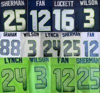 Wholesale MENS Richard Sherman jersey Marshawn Lynch Russell Wilson Kam Chancellor Jimmy Graham elite jersey can mix order